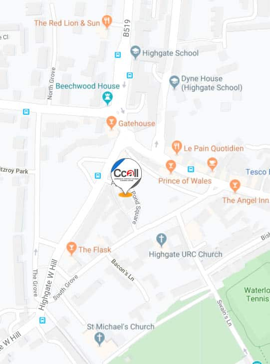located in Pond Square London